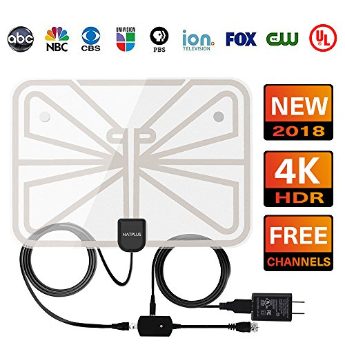 Digital HDTV Antenna UPGRADED 2018 VERSION-Support All 1080P 4K TVs 50+ Miles High Definition with UL USB Adapter Advanced Amplifier Signal Booster Indoor and 16.5FT Coax Cable for Digital - Than Tvs $50 Less Cheap