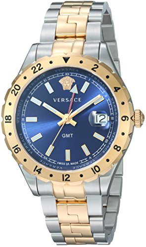 Versace-Mens-Hellenyium-GMT-Swiss-Quartz-Stainless-Steel-Casual-Watch-ColorTwo-Tone-Model-V11060017