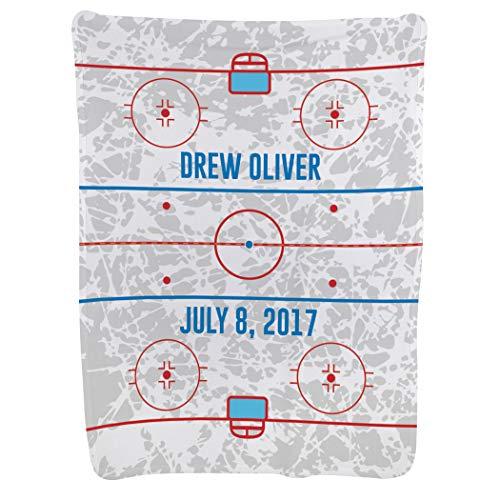 Personalized Hockey Baby & Infant Blanket | Custom Hockey Rink