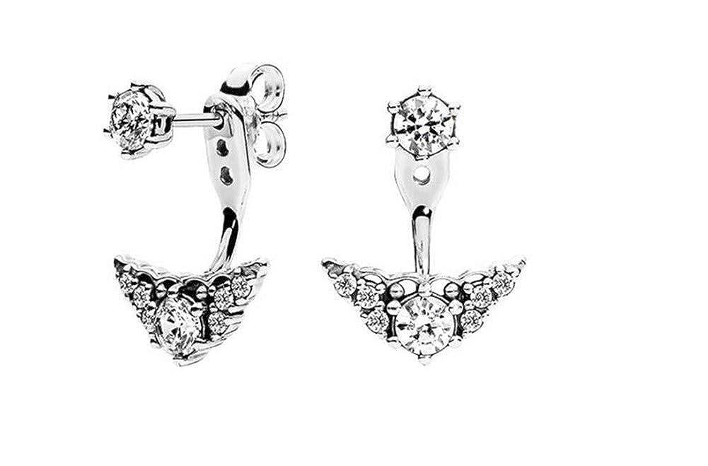 Princess Crown Earrings Fairy Tale Silver Stud Earrings