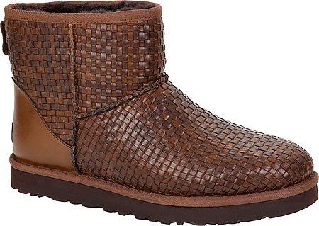Ugg Australia Mens Klassiska Mini Vävda Boot Cognac