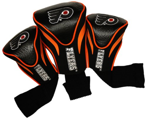- Team Golf NHL Philadelphia Flyers Contour Golf Club Headcovers (3 Count), Numbered 1, 3, & X, Fits Oversized Drivers, Utility, Rescue & Fairway Clubs, Velour lined for Extra Club Protection