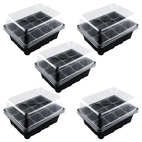 Bandejas de plántulas de germinación, 12 celdas Hoyo vivero Planta de marihuana Semillas Crecer Caja de caja Insertar...