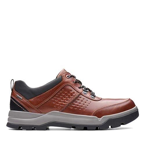 CLARKS 26136967 Mens Un Atlas Lo GTX Sneaker, Dark Tan Leather- 9 ...