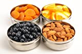 Stainless Steel Snack Container - 4 Pack (BPA-Free, Non-Toxic)