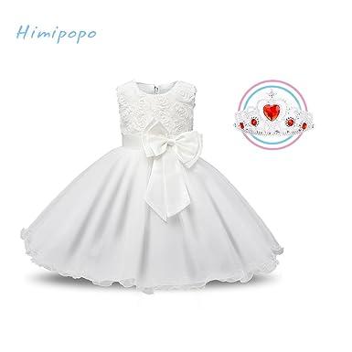 250ebba8815c Amazon.com  himipopo Flower Girl Dress Vintage Lace Dresses Wedding ...