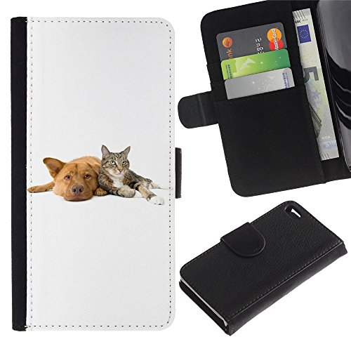OMEGA Case / Apple Iphone 4 / 4S / cat dog pets white retriever / Cuir PU Portefeuille Coverture Shell Armure Coque Coq Cas Etui Housse Case Cover Wallet Credit Card