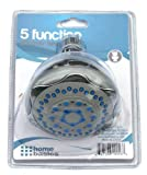 ELEGANT COMFORT 5-Function Deluxe Twin Shower Head and Massager, Chrome/Grey
