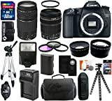 Canon EOS 70D 20.2 MP Digital SLR Camera Body with Dual Pixel CMOS AF and EF-S 18-135mm f/3.5-5.6 IS STM Kit + EF 75-300mm f/4-5.6 III Telephoto Zoom Lens + 32GB Card + Flash + Tripod + Battery and Charger + Case + Filter Kit + Hand Grip + Shutter Release + Accessories Bundle
