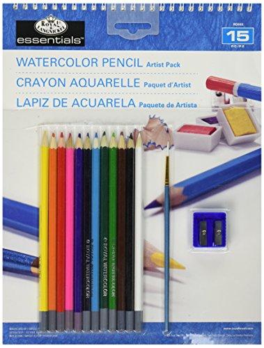 Royal & Langnickel Watercolor Pencil Artist Pack, 9-Inch by 12-Inch Langnickel Watercolor Pencil