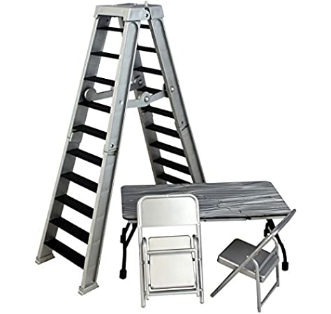 ULTIMATE LADDER & TABLE PLAYSET (SILVER) - RINGSIDE COLLECTIBLES EXCLUSIVE WWE TOY WRESTLING ACTION FIGURE ACCESSORY PACK by Wrestling: Amazon.es: Juguetes y juegos