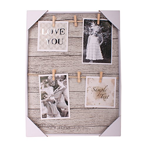 HANTAJANSS Photo Display Hanging Picture Frame of 6 Photos-show the Sweetest of Your (Family Display)