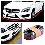 Bumper Protector, Front Bumper Lip,Can Protect Front Lip & Side Skirt,as the front lip spoiler for Cars Trucks SUV - To Protect cars from collision (2.5m,Carbon Fiber black)