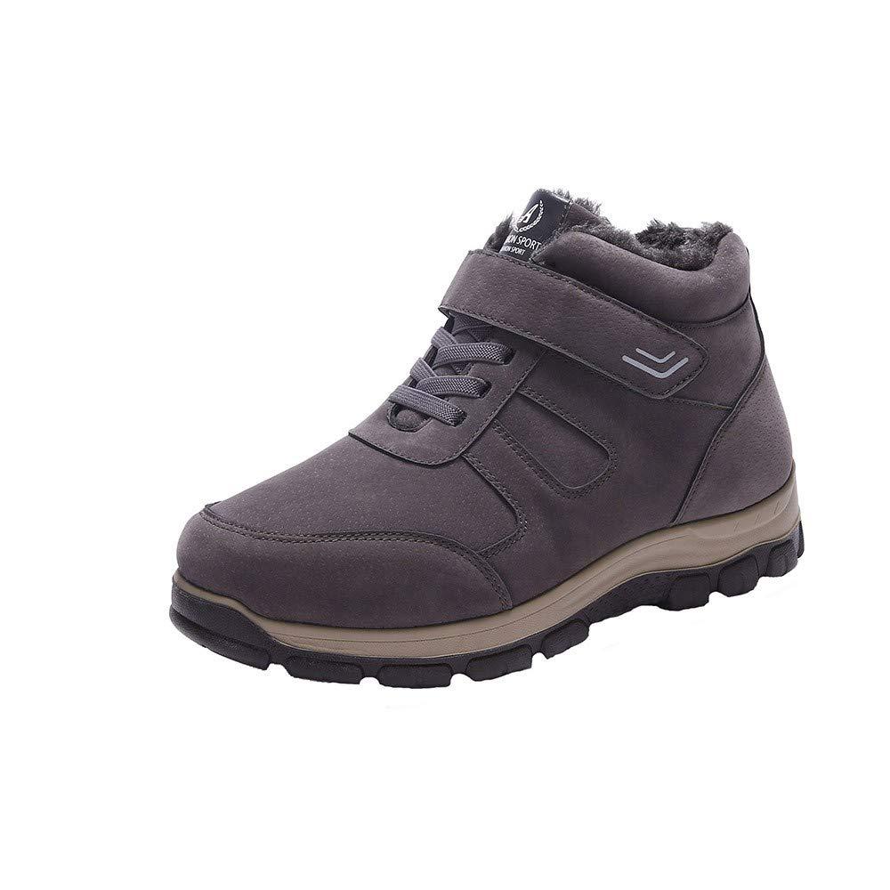 Chaussure Hiver Homme Mode Casual Velours Chaud éPaississant Non Glissant Fond Mou De Grande Taille Bottes De Coton VonVonCo2018080005