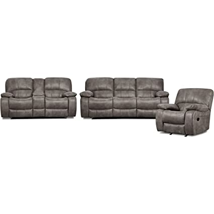 reclining living room furniture sets. Cambridge Garrison Three Piece Set: Sofa, Loveseat, Recliner Living Room  Furniture Sets Reclining Living Room Furniture Sets