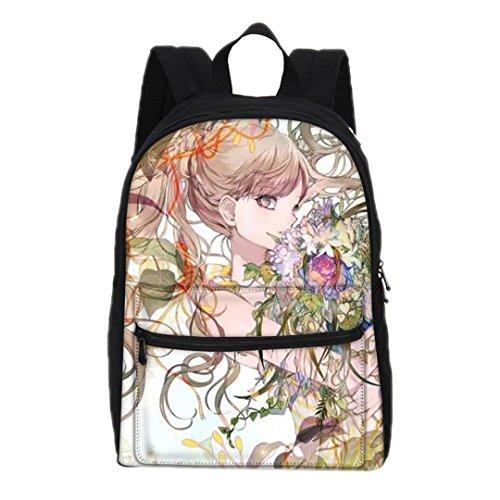 Mode Animation drucken Rucksack Frauen 3D Cartoon Canvas Rucksack Kinder Canvas Schultertasche Mädchen Freizeit Tasche 12