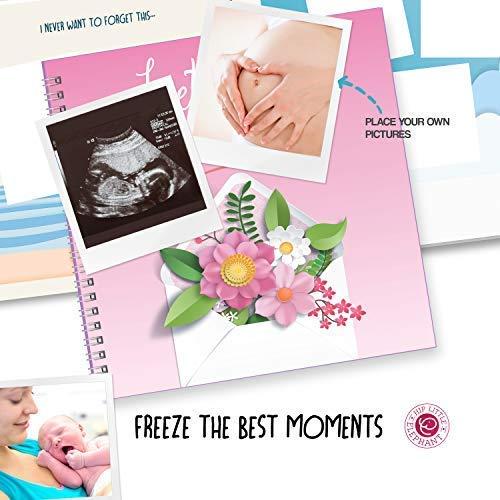 20,3 x 20,3 cm Rosa inkl die ihr Baby erwarten tolles Andenken f/ür die erste M/ütter 40 Seiten Aufkleber f/ür Mutterschaft Letters to My Baby Erinnerungsbuch und Schwangerschaftstagebuch