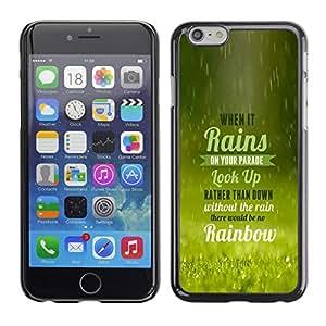 EJOY---Cubierta de la caja de protección la piel dura para el / iPhone 6 / --La lluvia trae el arco iris