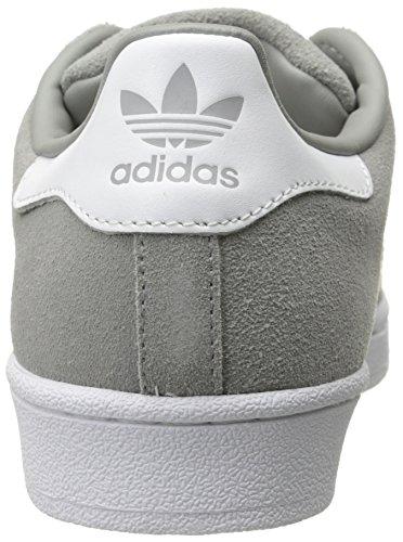 Adidas Original Mens Super Mocka Sko Fast Grå / Vit / Fast Grå