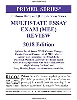 scoring high on bar exam essays in depth strategies and essay  rigos primer series uniform bar exam ube review multistate essay exam mee
