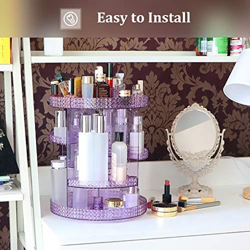 Awenia Makeup Organizer 360-Degree Rotating, Adjustable Makeup Storage, 7 Layers Large Capacity Cosmetic Storage Unit… 3