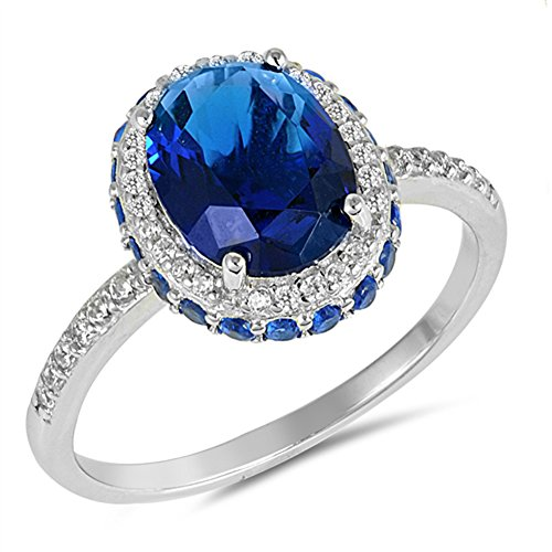 oval sapphire ring - 6