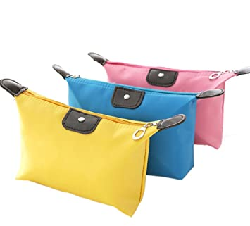 Amazon.com: 3pcs/set Candy Color neceser de viaje bolsas de ...