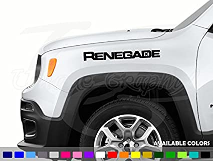 Jeep Renegade Colors >> Amazon Com Jeep Renegade Vinyl Hood Decal 20 Inch 1 Pair Automotive