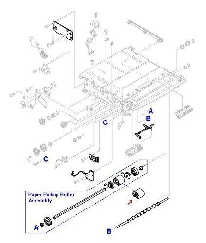 HP RB2-1821-030CN Pickup Roller 250 Sheet Tray lj 5000n lj 5000dn 5000gn 5000le 5100 Le Tn Dtn 5100se 5000