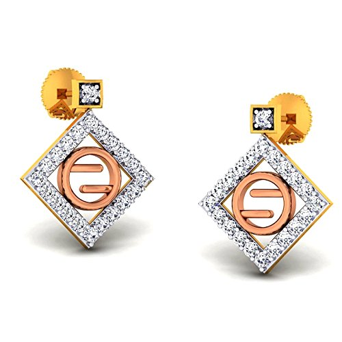 JewelsForum Diamond Studs Earrings in Yellow Gold 14Kt 0.42 Carat TCW by JewelsForum