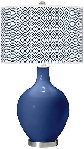 Monaco Blue Diamonds OVO Table Lamp - Color + Plus ()