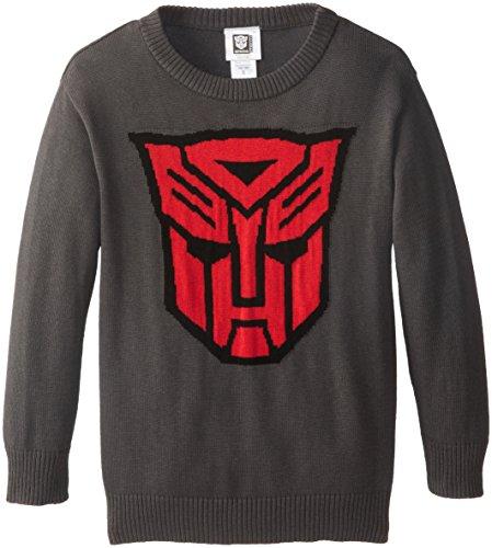 Transformers Big Boys' Autobots Logo Intarsia Sweater