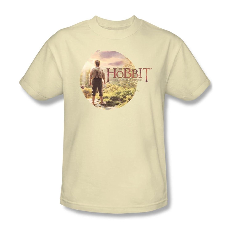 The Hobbit - Mens Hobbit In Circle T-Shirt In Cream