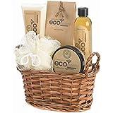 Eco Bath Body Gift Basket Set Lotion Get Scrub Crystals