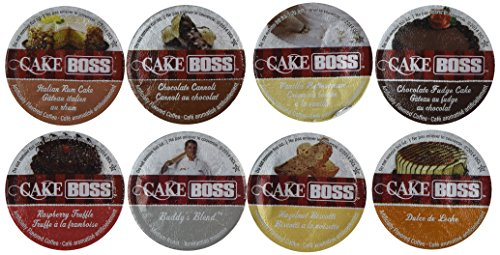 40 Count - Cake Boss Variety Pack Single Cup Coffee for K-Cup Keurig Brewers