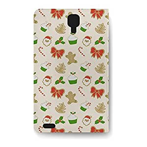 Leather Folio Phone Case For Samsung Galaxy S4 Leather Folio - Christmas Cookies Flip Stand