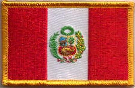 MadAboutFlags Parche Bordado Bandera Perú Escudo de Armas - 9 x 6 cm: Amazon.es: Hogar