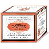 Healthy Coffee - Great Tasting ON-THE-GO Black Coffee with Certified Organic Ganoderma and Chinese Wolfberry (Goji) - Box of 30 x 3.5g Sachets