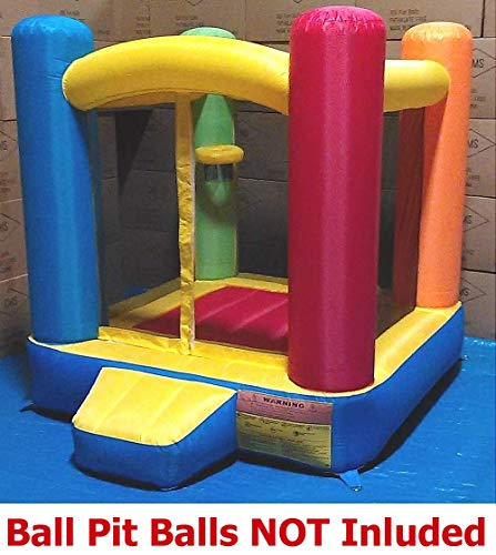 Little Castle Bounce House w/ Step ( Balls Sold Separately ) - Best for Kids Age 1~6, Perfectly Sized for Indoor or Outdoor Use (AZ-100, Without Balls)