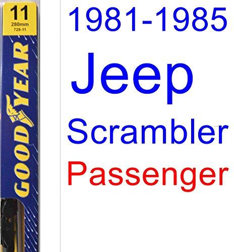 1981-1985 Jeep Scrambler Wiper Blade (Passenger) (Goodyear Wiper Blades-Premium) (1982,1983,1984) hot sale