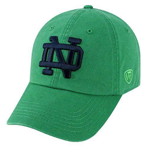 (Top of the World NCAA-Cotton Crew-City-Adjustable Strapback-Hat Cap-Notre Dame Fighting Irish-Kelly Green)