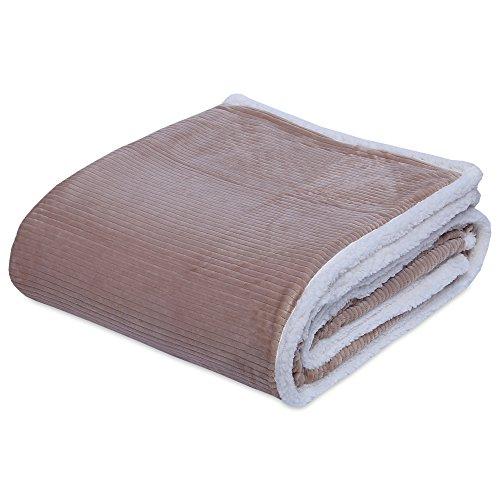 Berkshire Blanket Wide Corduroy and Cozy Sherpa Reversible V