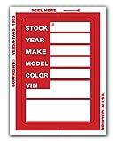 Versa Tags Kleer-bak Stock Stickers (Red)