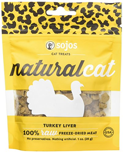 Liver Treats Turkey - Sojos 557114 Natural Cat Turkey Liver Treat, 1 Oz