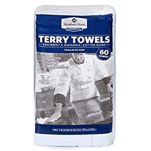 Cleaning Solutions 78992-60PK Premium Grade Heavy Weight White Terry Towel - Pack of 60 from Cleaning Solutions