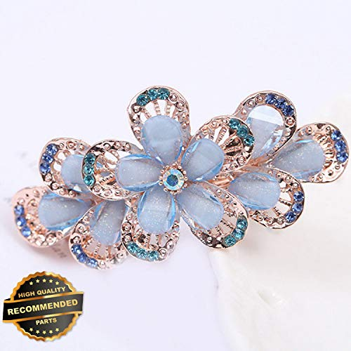 - Gatton Premium New Women Girl Crystal Rhinestone Flower Hair Barrette Clip Hairpin Gift   Style HRCL-M182012357