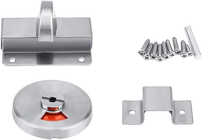WC ou salle de bain porte indicateur serrure chromé