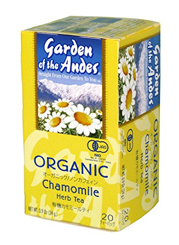 Garden of the Andes Herbal Organic Decaf Chamomile Hot Tea Bags, 0.9 oz, 20 Tea BagCount - Gourmet Tea Machine