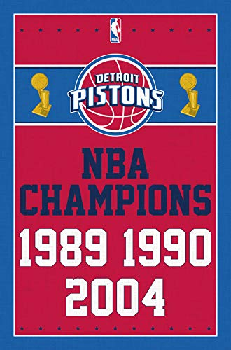 Trends International Detroit Pistons-Champions 13 Clip Bundle Wall Poster, 22.375