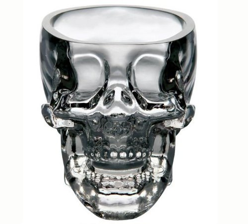 Kitchen & Dining Entertaining Glassware Drinkware Old Fashioned Glasses Skull Cup for Serving Scotch Whiskey Mixed Drinks (2)